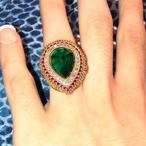 Beautiful faux gemstone bold ring